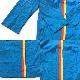 アメリカ古着 シャツワンピース ワークシャツ 送料無料 レディース M/水色x黄色xオレンジ 無地 ライン シャツドレス ロングシャツ チュニック 長袖 アメカジ 古着卸 業販 UNION  MADE 米国製 オールド