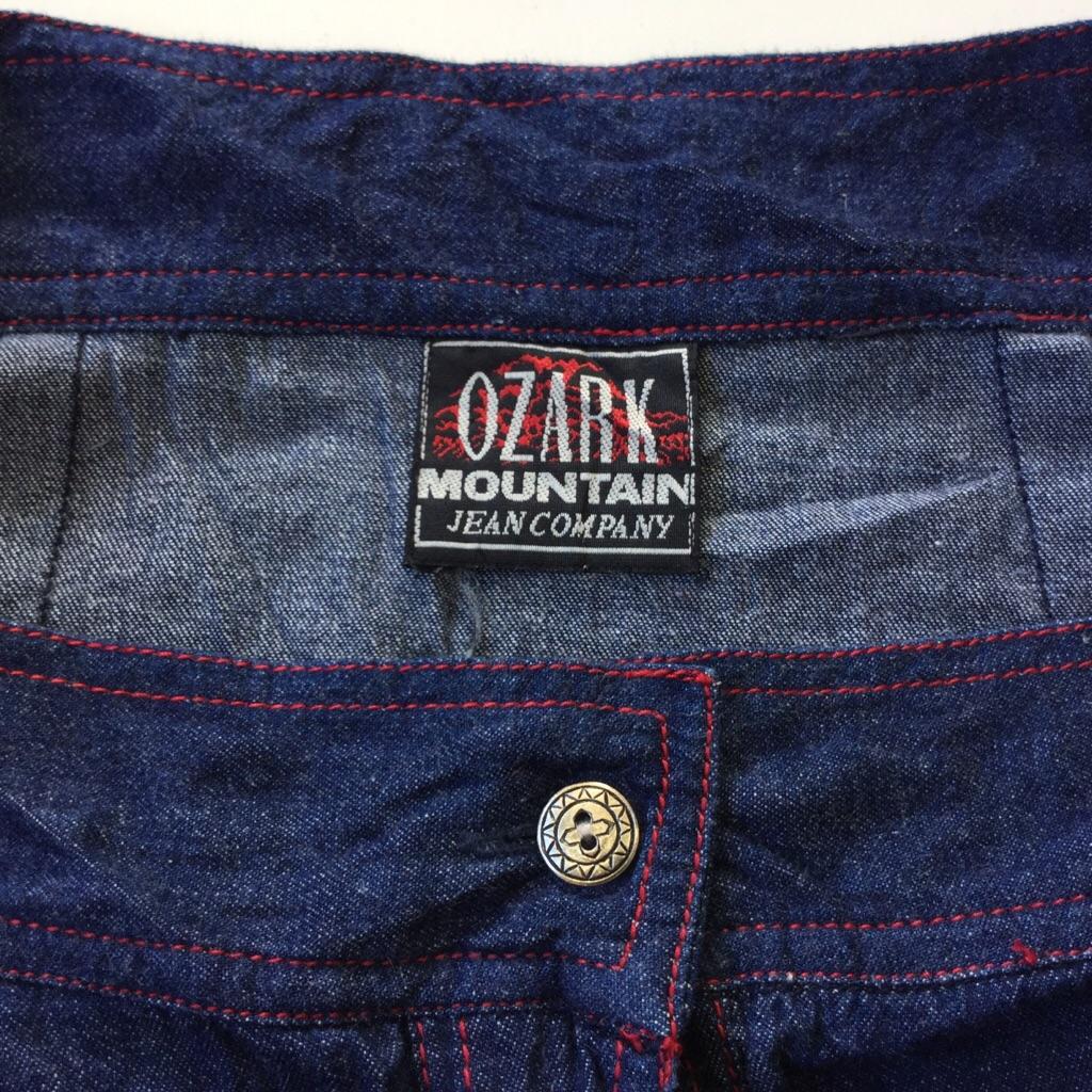 OZARK MOUNTAIN アメリカ古着 デニムスカート ロングスカート レディース W80/デニムブルー ボタンフライ USA アメリカ直輸入 フレアスカート マキシ丈 送料無料 古着卸 業販