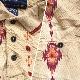 Wrangler ラングラー アメリカ直輸入 半袖ポロシャツ 柄シャツヘリンボーン 送料無料 メンズ XL/黄土色系 総柄 ウエスタンシャツ カウボーイ ネイティブ USA ワーク アメカジ ファーマーズ 古着御 業販 大きい ビッグ オーバー
