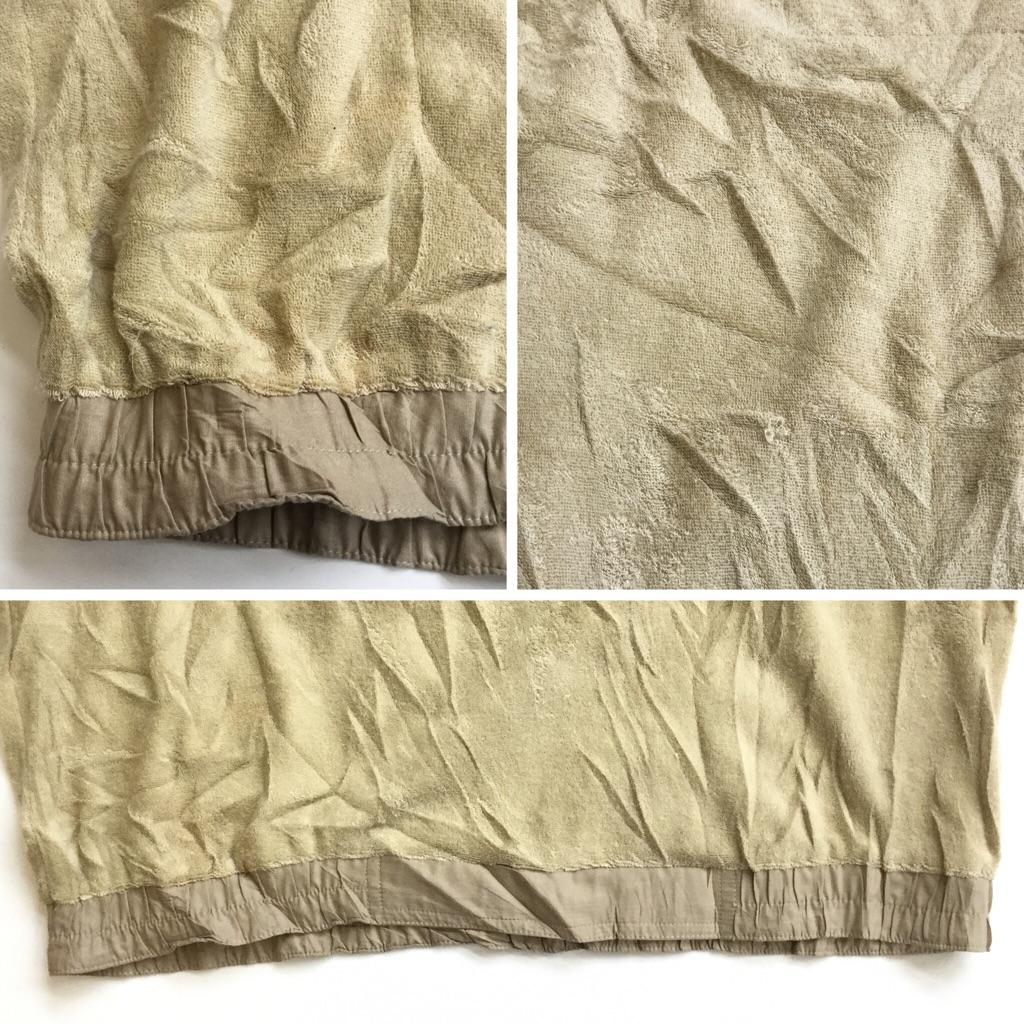 PIERRE CARDIN ピエールカルダン 半袖ポロシャツ アメリカ直輸入 パイル地トップス 送料無料 メンズ L/ベージュ ハーフジップ プルオーバー USA アメカジ 古着御 業販 オールド