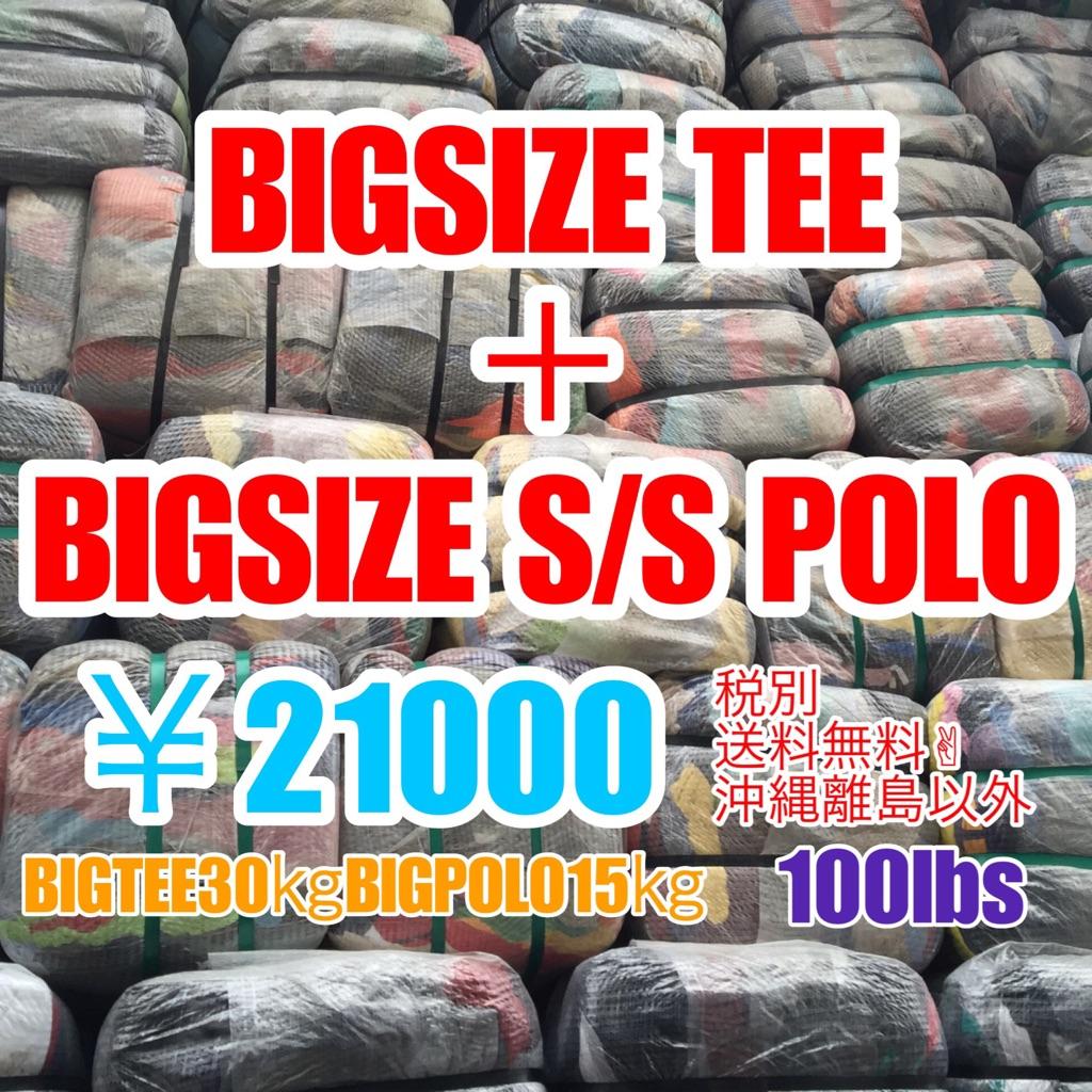 アメリカ古着 半袖Tシャツ×30kg 半袖ポロシャツ×15kg ビッグサイズ XL-XXL up 100lbs ベール 送料無料 まとめ売り 福袋 業販 古着卸 アメカジ USA輸入 ブランド 大きいサイズ LL XO 3XL 4XL オーバーサイズ セット アソート