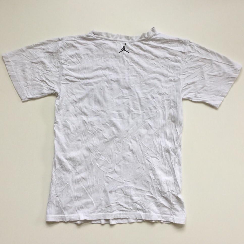 JORDAN ジョーダン still-FLY ジャンプマン 半袖Tシャツ サイズM程度 白 USA直輸入 送料無料 スポーツ バスケットボール JUMPMAN