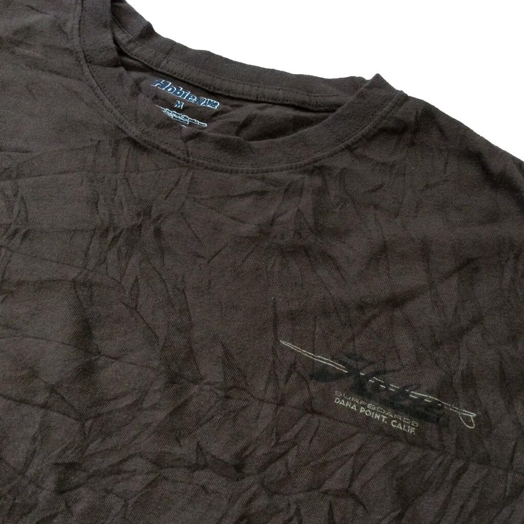 Hobie SURFBOARDS ホビー サーフボード 半袖Tシャツ アメリカ輸入 M/茶・ブラウン 送料無料 USA ブランド サーフィン ロゴ ワンポイント シンプル