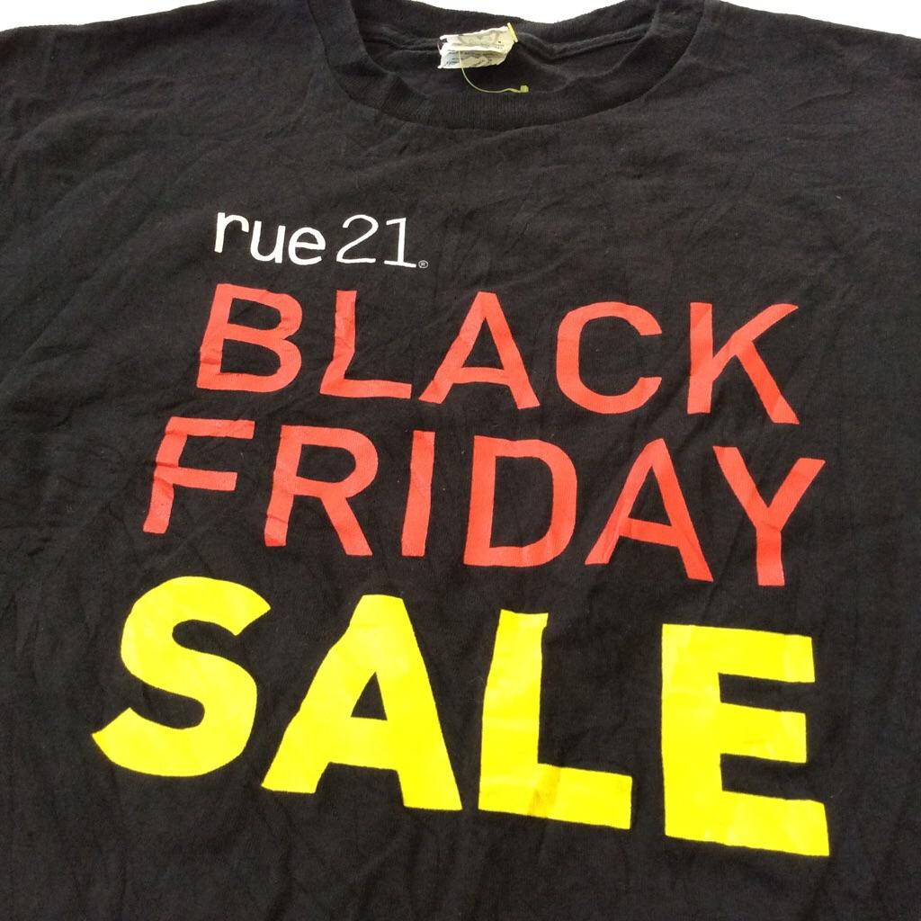 rue21 ルー21 アメリカ輸入 半袖Tシャツ 非売品 スタッフT 送料無料 L/黒・ブラック USA アメカジ ファストファション ブラックフライデー セール BLACK FRIDAY SALE ブランド