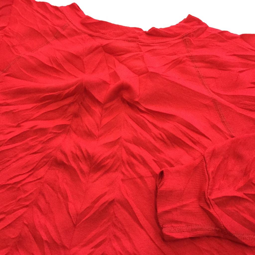 アメリカ古着 スウェット トレーナー USA 送料無料 L程度/赤・レッド ラグラン 4本針 輸入品 アメカジ 無地 プレーン ソリッド 古着卸 業販 スエット