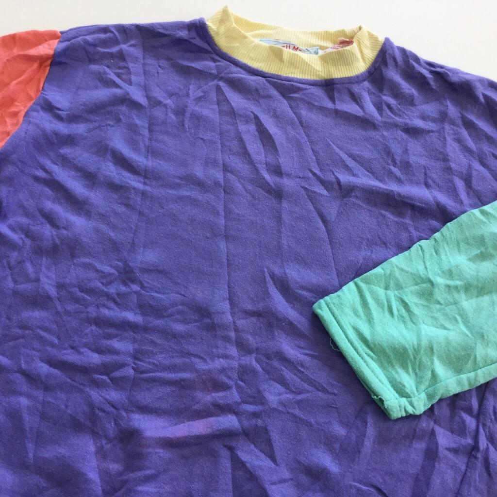 アメリカ直輸入 レディース 無地スウェット トレーナー 送料無料 S/アイスカラー(紫xピンクx緑x黄) ロンT カジュアル USA古着 業販 スエット