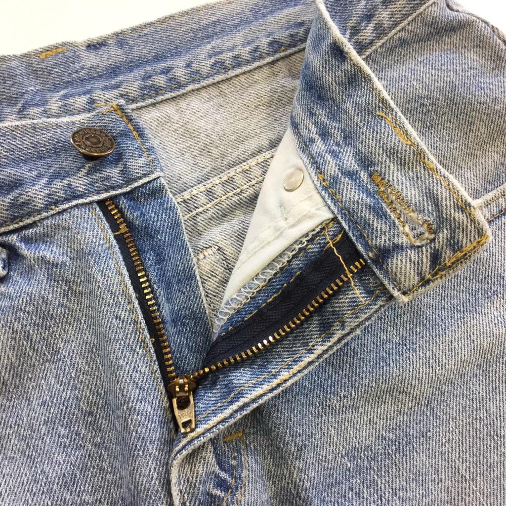 Lee リー リメイク デニムスカート W74/デニムブルー アメリカ直輸入 ミニスカート ダメージ 台形 送料無料 USA古着 古着卸 業販