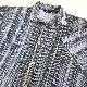 TRUST 半袖シャツ アメリカ直輸入 柄シャツ 送料無料 メンズ L/グレー系 ポリシャツ ストライプ シャーリング リブ USA アメカジ モード 古着御 業販 オープンカラー