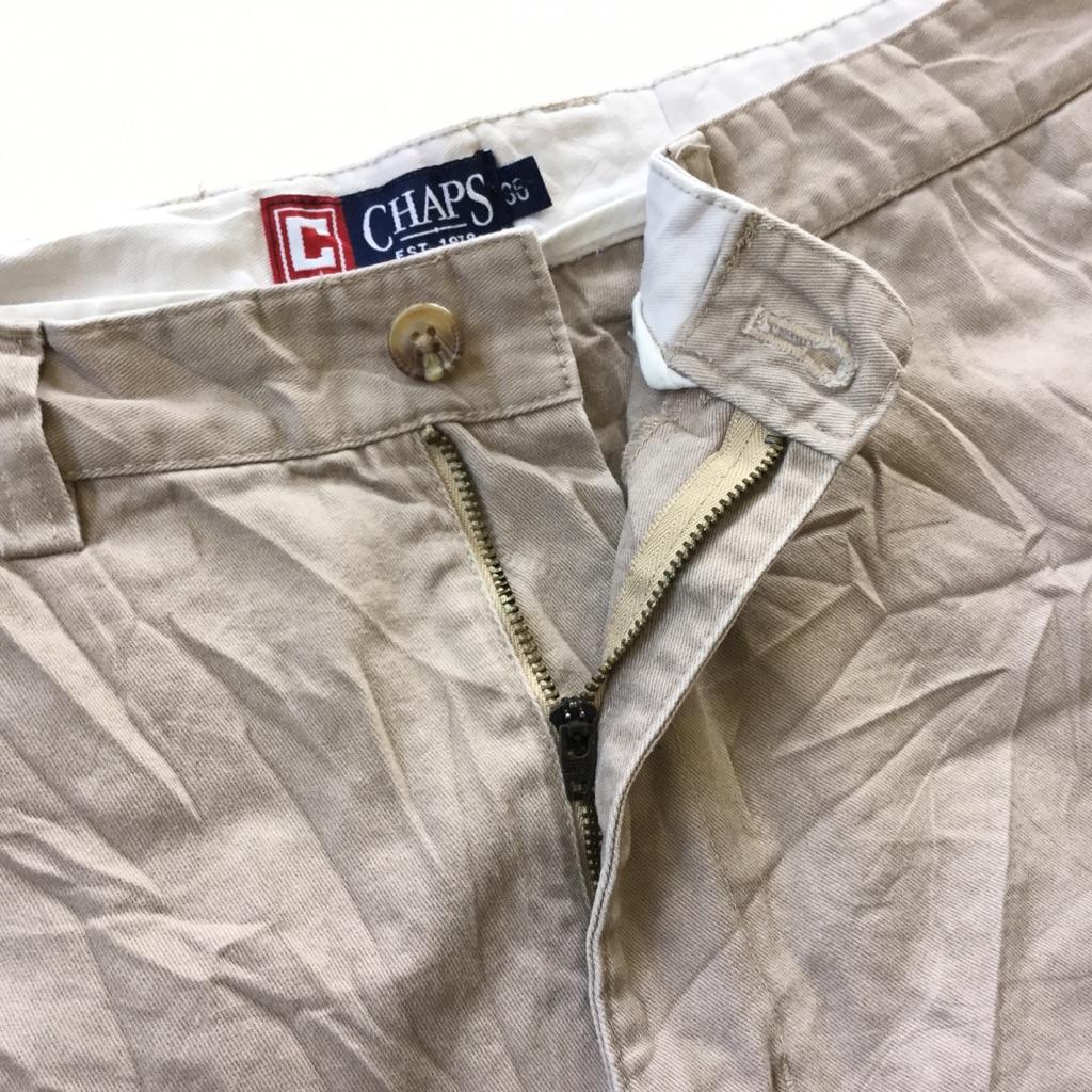 CHAPS チャップス アメリカ直輸入 ショートパンツ 送料無料 メンズ W36/ベージュ系 ショーツ 短パン ハーフパンツ チノ アメカジ ブランド トラッド 古着卸 業販 大きい ビッグ オーバー