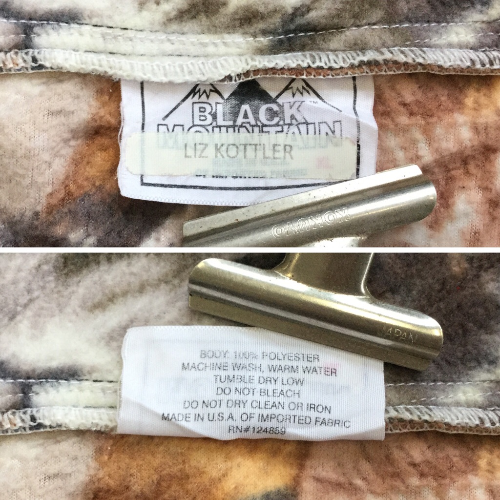BLACK MOUNTAIN フリースジャケット 猫フリース 送料無料 レディース XL/茶系 アウトドア カジュアル ポップ フルジップ ハイネック MADE IN USA アメカジ 古着卸 業販 レディース ユニセックス 大きい ビッグ オーバー