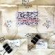 H BAR C エイチバーシー ビンテージ 半袖ウエスタンシャツ カウボーイ 送料無料 メンズ L-XL/クリーム系 ストライプ 花柄 MADE IN U.S.A. カントリー ファーマーズ ワーク アメカジ ヴィンテージ アメリカ直輸入 古着御 業販 大きい ビッグ オーバー