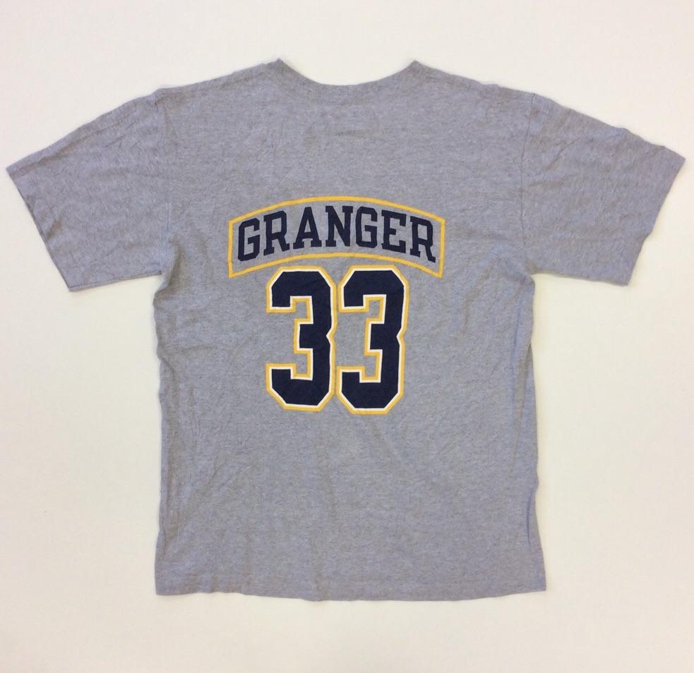 NBA インディアナ・ペイサーズ 半袖Tシャツ 送料無料 M/グレー アメリカ輸入 USA バスケットボール INDIANA PACERS グレンジャー 33 GRANGER