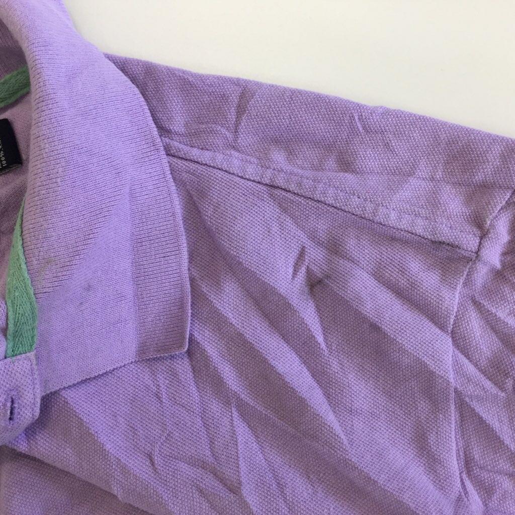 AMERICAN-LIVING アメリカンリビング アメリカ直輸入 半袖ポロシャツ XL/スミレ色 送料無料 USA 星条旗 ブランド ゴルフ アメカジ 大きい ビッグ