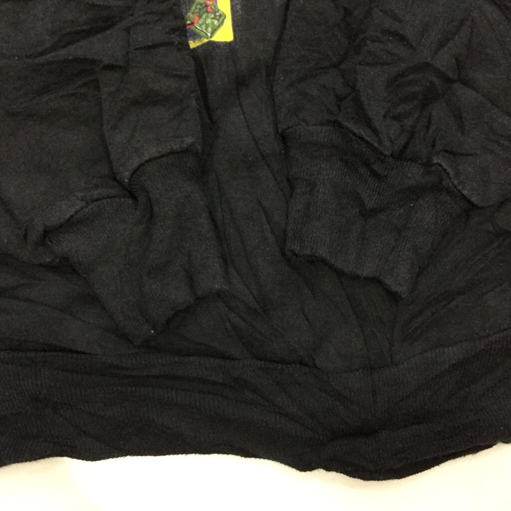 アメリカ古着 レディース クリスマススウェット S/黒・ブラック ツリー 雪 クマ テディベア プレゼント サンタ ヒイラギ  X'mas スエット 古着卸 送料無料 USA 輸入品