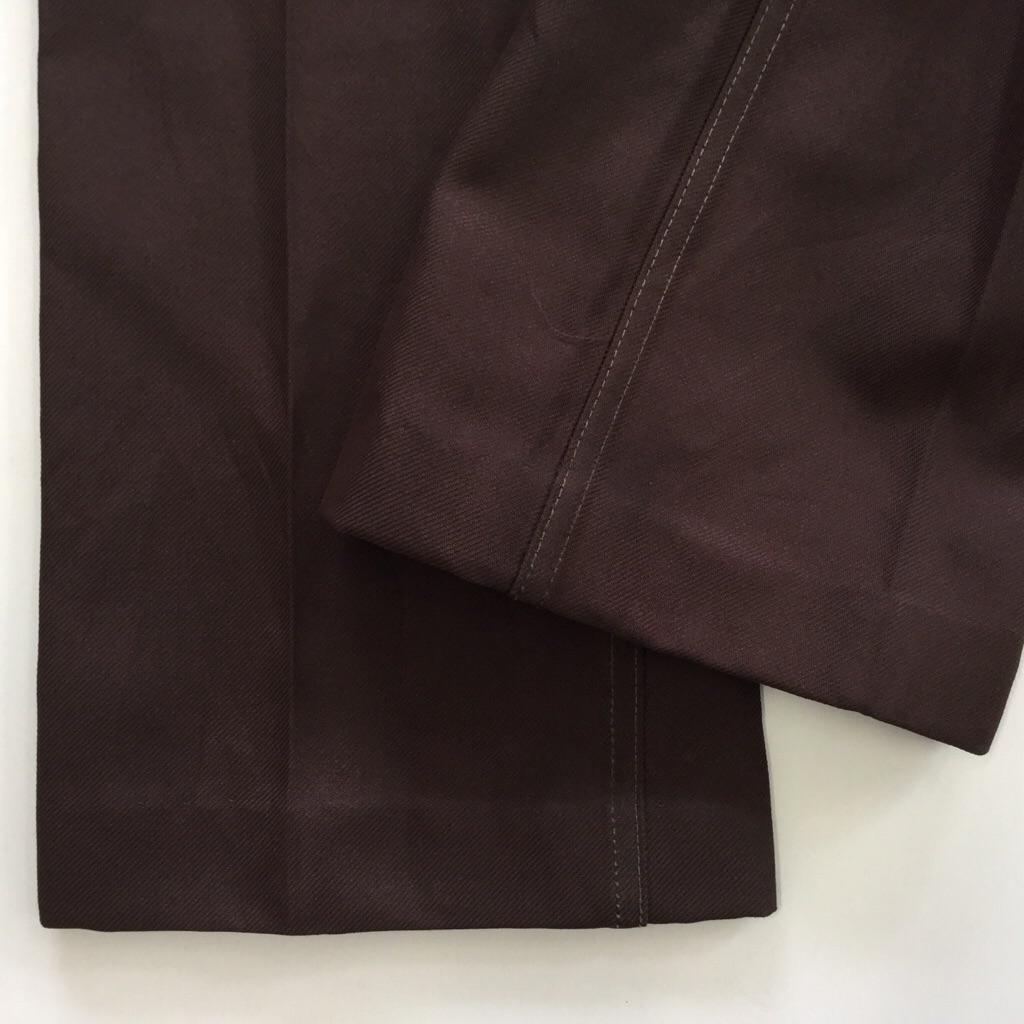 Wrangler ラングラー ポリパンツ 送料無料 メンズ W78/茶 スラックス ブーツカット 古着卸 アメカジ オールド ブランド アメリカ輸入 業販
