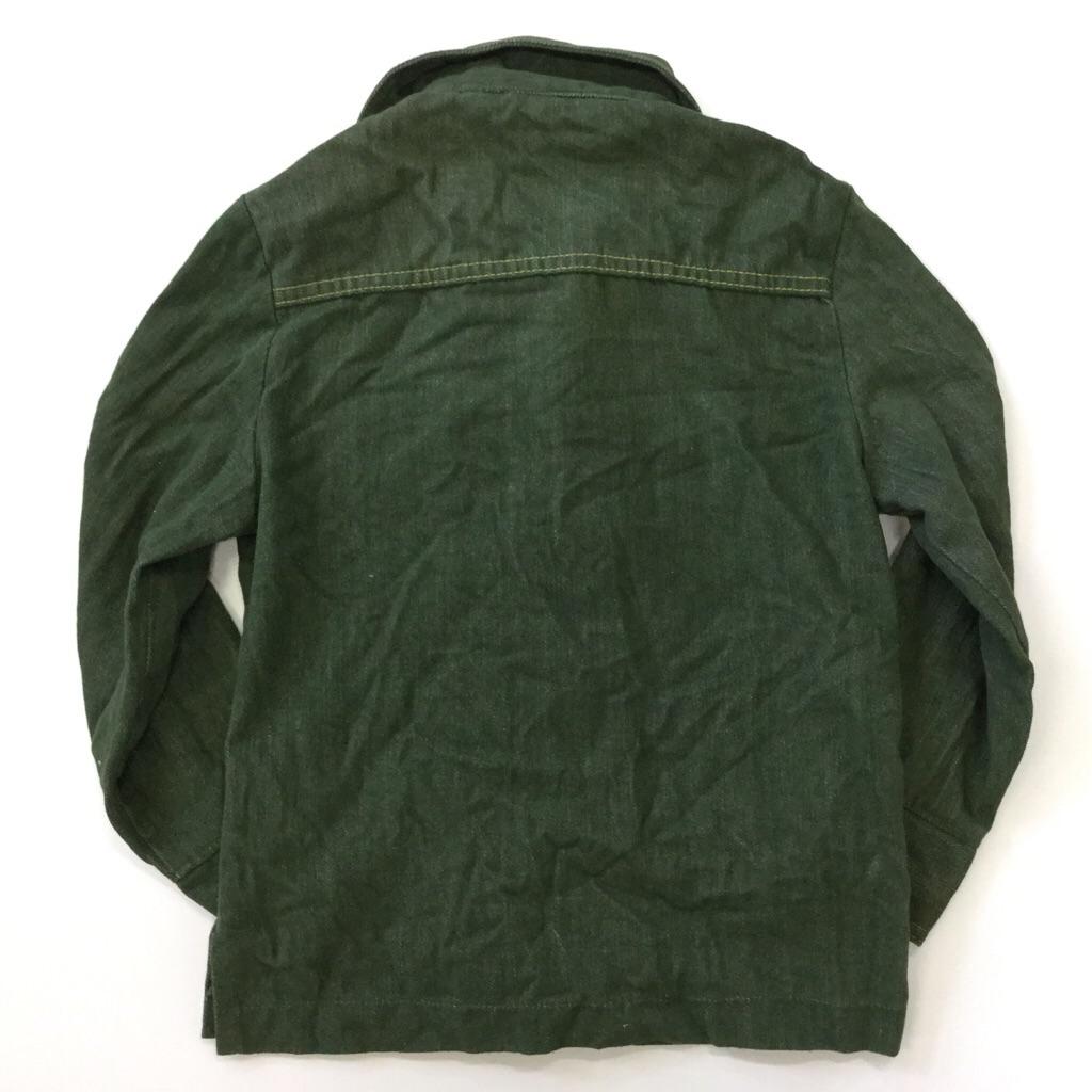アメリカ古着 ボーイズ シャツジャケット デニムジャケット カラーデニム キッズ 10/オリーブ系 Style ジージャン オールド アメリカ古着 輸入品 USA 送料無料