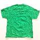 CHEERS 猫Tシャツ アメリカ古着 クリスマス 半袖Tシャツ 送料無料 メンズ L-XL/緑・グリーン 雪柄 乾杯 X'mas USA アメカジ 古着卸 輸入品 大きい ビッグ オーバー