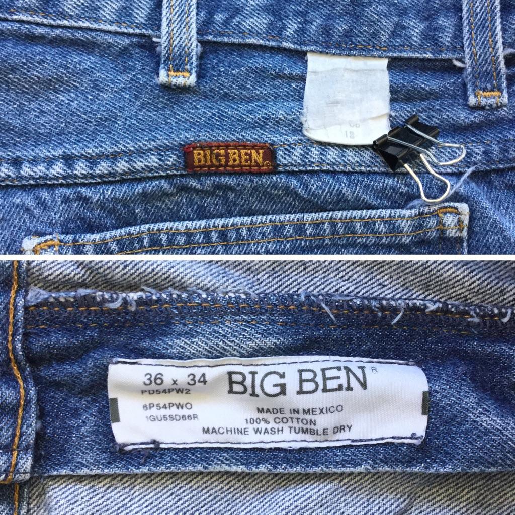 BIG BEN ビッグベン アメリカ輸入 デニムパンツ カットオフ ショーツ 送料無料 W36/ブルーデニム 短パン ハーフパンツ ジーパン アメカジ USA 古着卸 業販 XL ビッグ 大きい オーバー