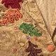 AUTUMN CREATIONS アメリカ古着 コーデュロイジャケット 送料無料 レディース XXL/黄土色 くるみボタン アメカジ コードジャケット 枯葉モチーフ ボックスタイプ コーズ コールテン 古着卸 業販