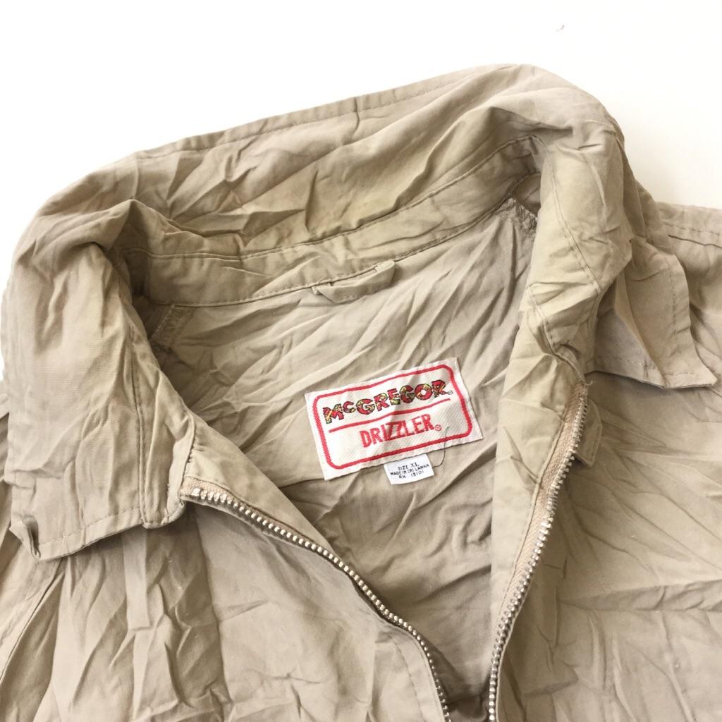 McGREGOR マクレガー DRIZZLERドリズラージャケット 薄手 送料無料 XL/ベージュ系 USA アメリカ輸入 オールド ベーシック チンスト ブランド アメカジ スウィングトップ 古着卸 大きい LL XO ビッグサイズ