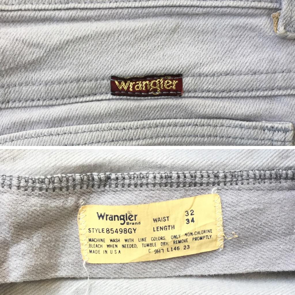 Wrangler ラングラー ビンテージ アメリカ直輸入 カラーデニムパンツ 送料無料 メンズ W32/ライトグレー MADE IN USA ストレート ストレッチ アメカジ ブランド オールド 業販 古着卸