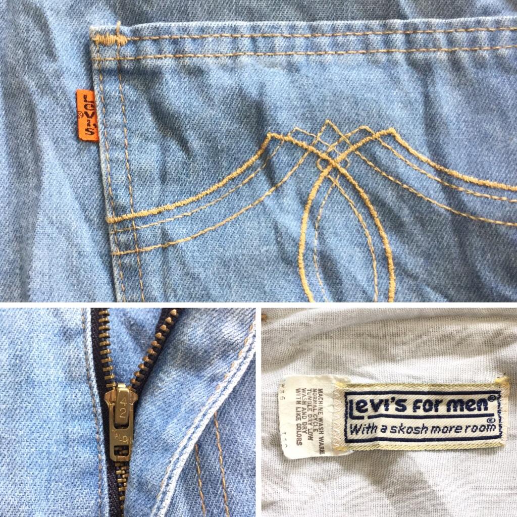 Levi's リーバイス ブルージーンズ 送料無料 W36/ブルー系 オレンジタブ ジーパン カジュアル ブランド MADE IN USA アメリカ直輸入 古着卸 業販