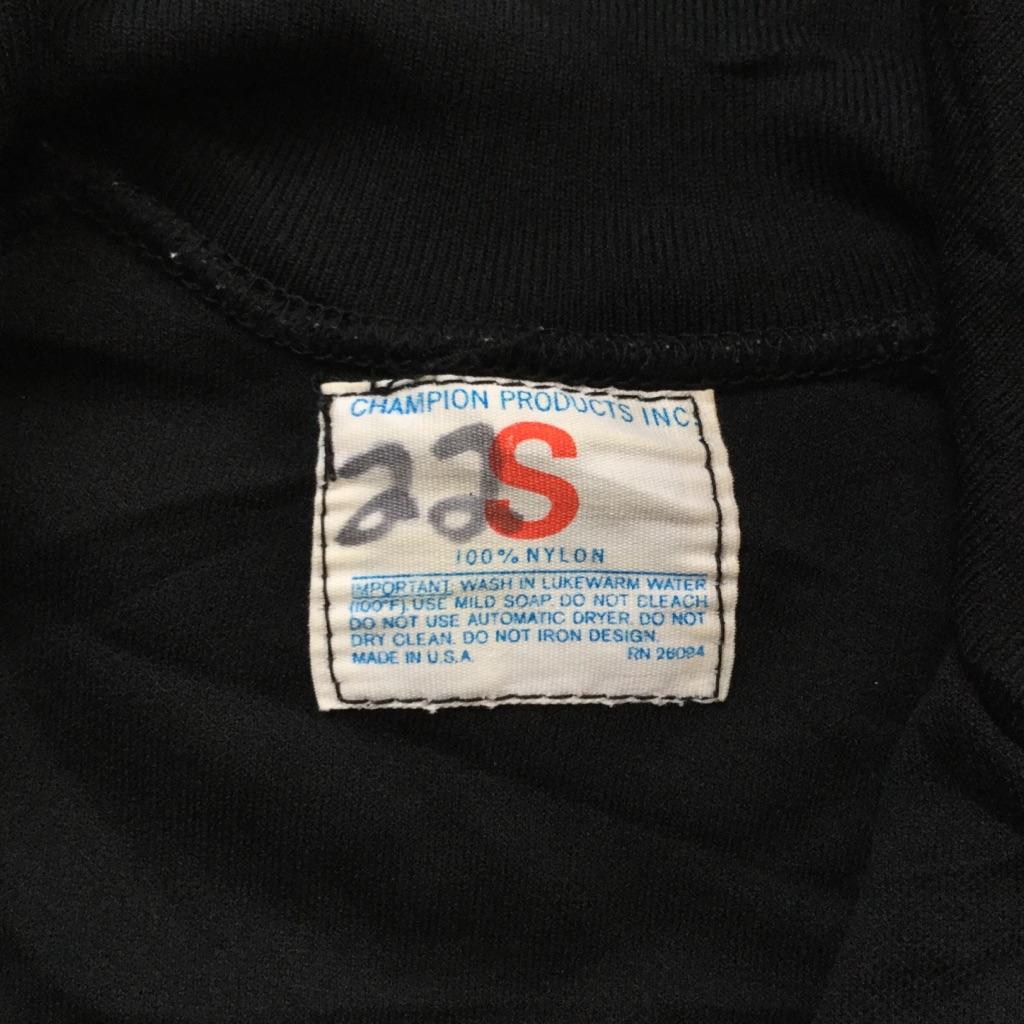 70's CHAMPION PRODUCTS INC チャンピオン ヴィンテージ タタキタグ アメリカ直輸入 ジョギングトップ ナイロン 送料無料 メンズ S/黒・ブラック ビンテージ スウェット ヴィンテージ USA ブランド アメカジ スポーツ オールドアメリカ ジャージ 古着卸 業販 GRAND RAPIDS