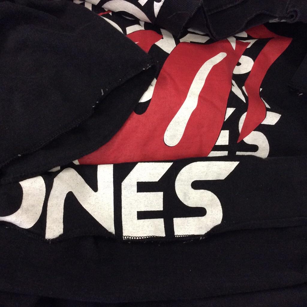 BUDDHIST PUNK ローリングストーンズ バンドTシャツ L/黒 ROLLING STONES アメリカ輸入 古着卸 ベロT ロックT