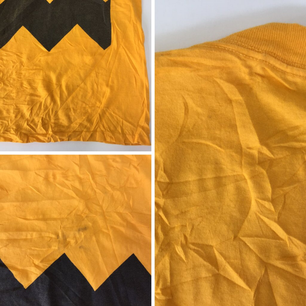 チャーリー・ブラウン ピーナッツ アメリカ輸入 半袖Tシャツ 送料無料 XL/イエロー スヌーピー PEANUTS キャラ USA アメカジ 大きい ビッグ