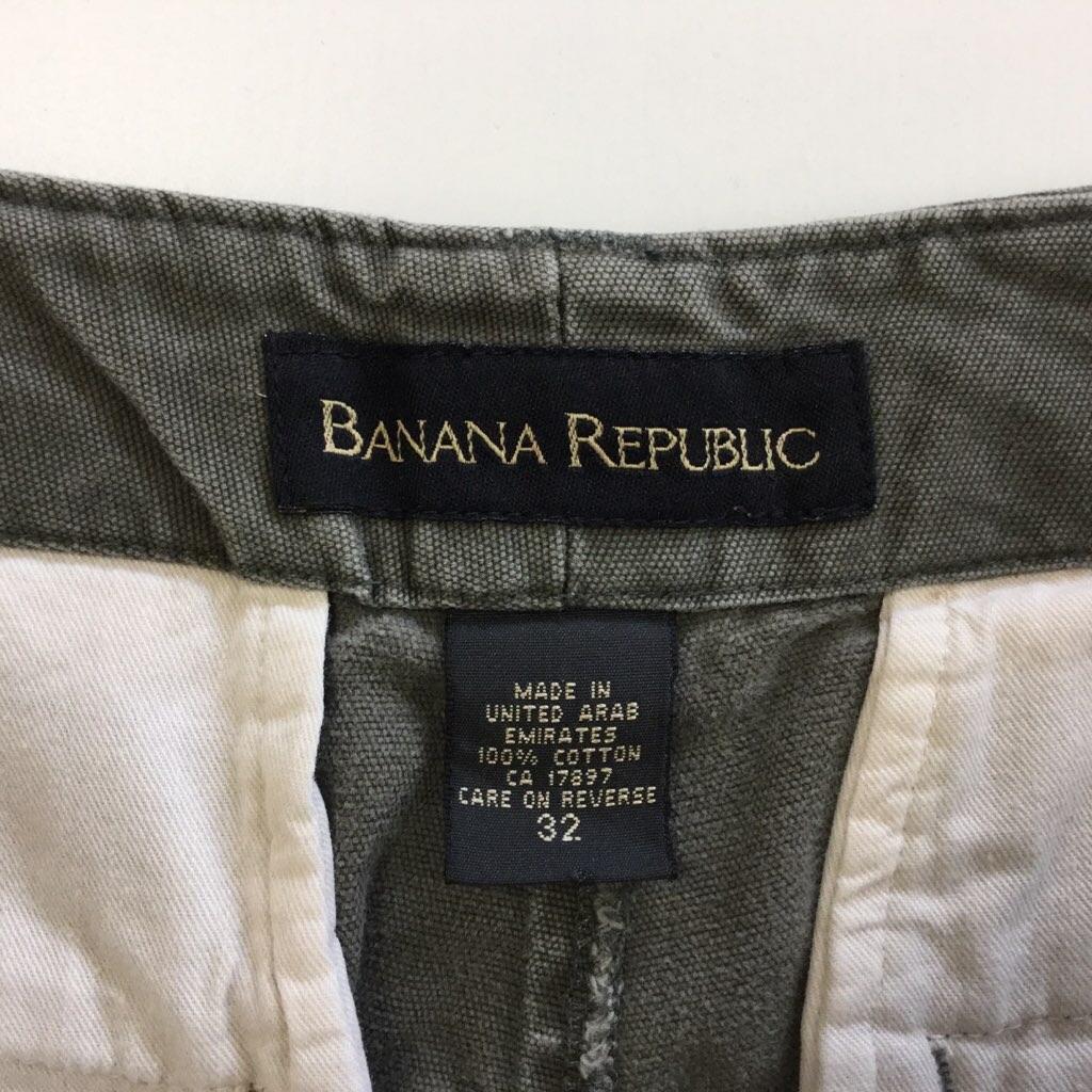BANANA-REPUBLIC バナナリパブリック カーゴパンツ アメリカ輸入 送料無料 W32/カーキ バナリパ  ショーツ 短パン ハーフパンツ アメカジ USA ブランド サイズM
