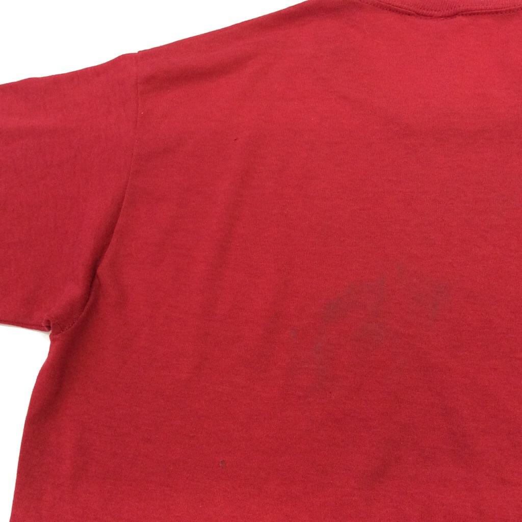JERZEES ジャージーズ ビンテージ 半袖Tシャツ バスケットボール 送料無料 M/赤・レッド アメリカ輸入 MADE IN USA アメカジ スポーツ キャンプ 古着卸 業販 薄手 スター