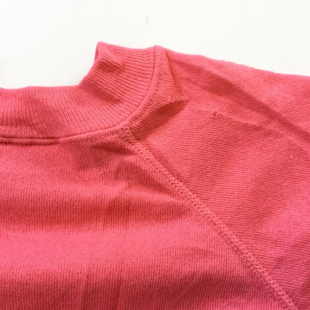 Hanes ヘインズ オールド 無地スウェット アメリカ直輸入 トレーナー 送料無料 メンズ S/ピンク MADE IN USA アメカジ ラグラン プレーン ソリッド スエット 米国製 4本針 古着卸 業販