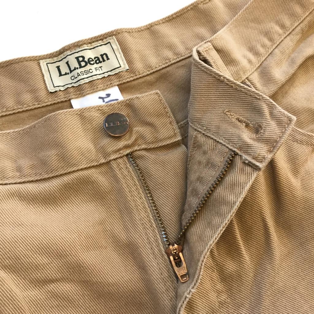 L.L.Bean エルエルビーン アメリカ古着 コットンパンツ メンズ W38/薄茶色 CLASSIC FIT 綿パン アメカジ ブランド アウトドア トラッド USA 送料無料 古着卸 業販 ビッグ オーバー 大きい