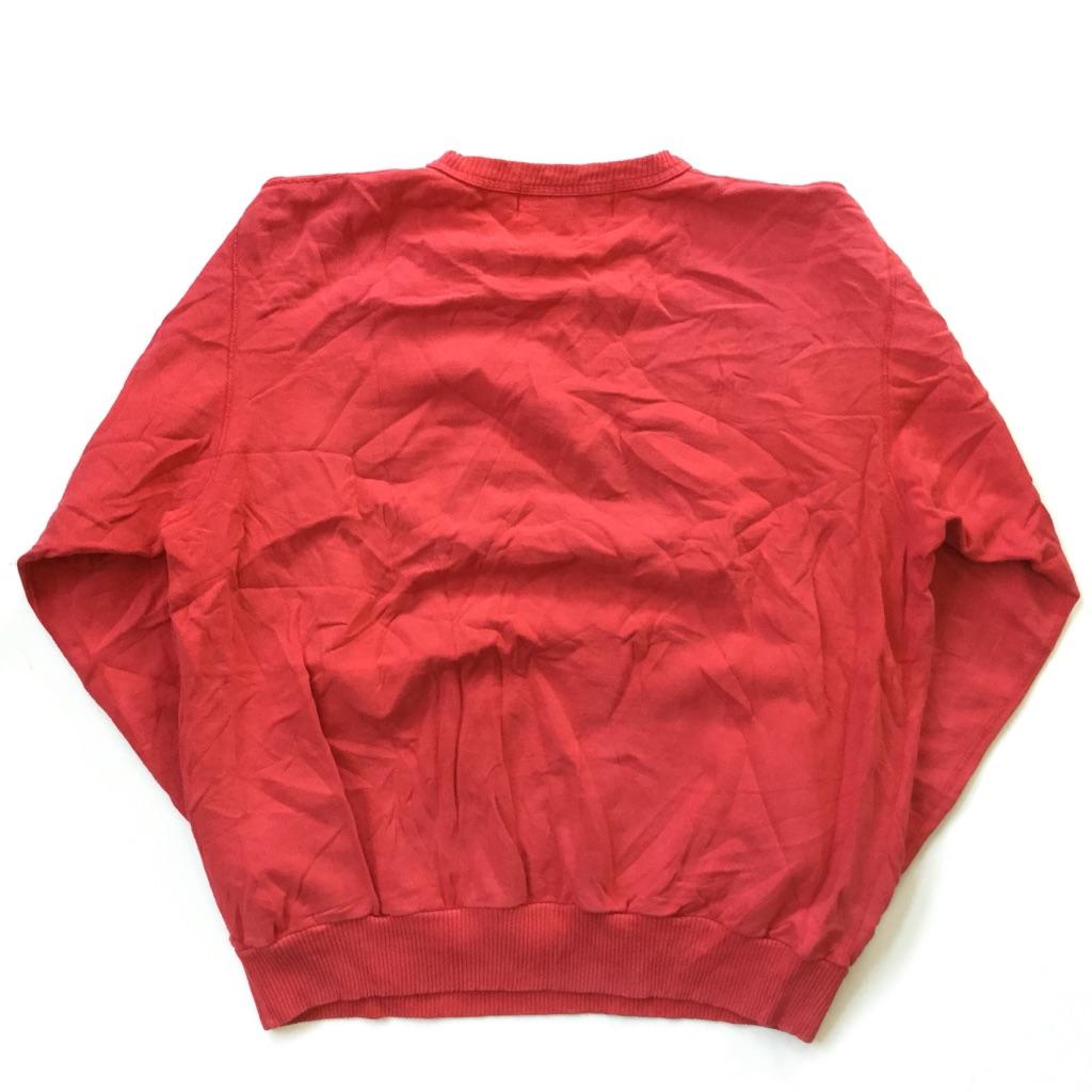 KEYSTONE プリントスウェット アメリカ直輸入 トレーナー 送料無料 サイズ 2/赤・レッド アメカジ ポップ ロゴ スエット 古着卸 業販 MADE IN CANADA