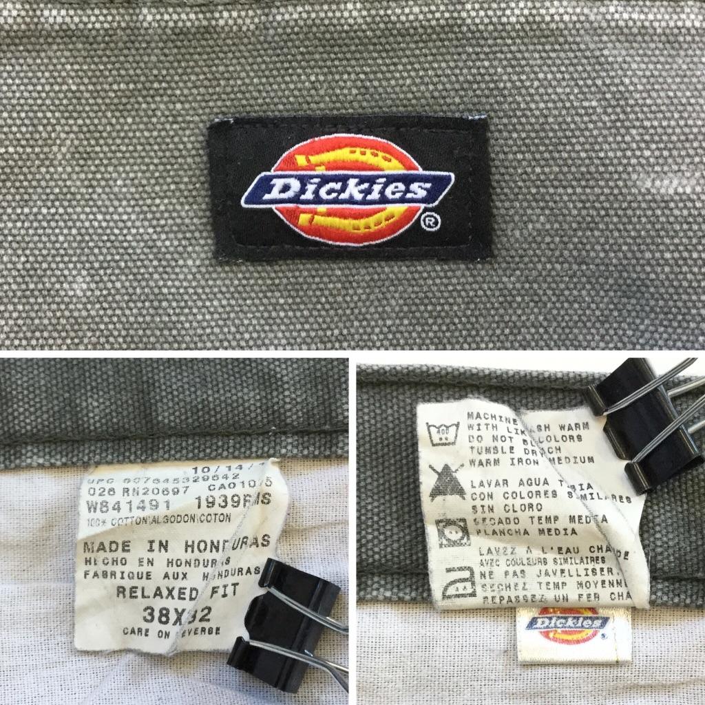 Dickies ディッキーズ アメリカ直輸入 ダック地 ペインターパンツ 送料無料 メンズ W38/グレー 帆布 ワークパンツ USA アメカジ ブランド ロゴ 厚手 古着卸 業販 大きい ビッグ オーバー
