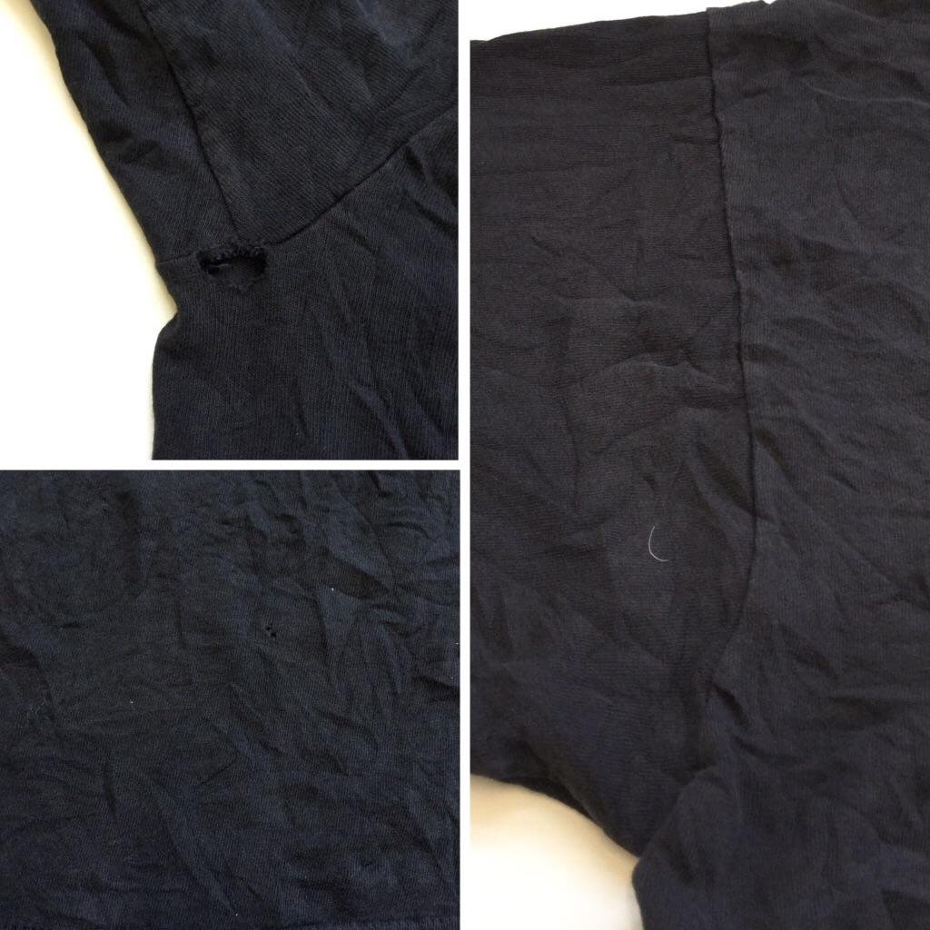 Oregon Coast 熱帯魚 半袖Tシャツ 送料無料 レディース XL/ブラックxピンク MADE IN USA ダブルネック リバーシブルスリーブ アメカジ アメリカ直輸入 古着卸 業販 大きい ビッグ オーバー レディース
