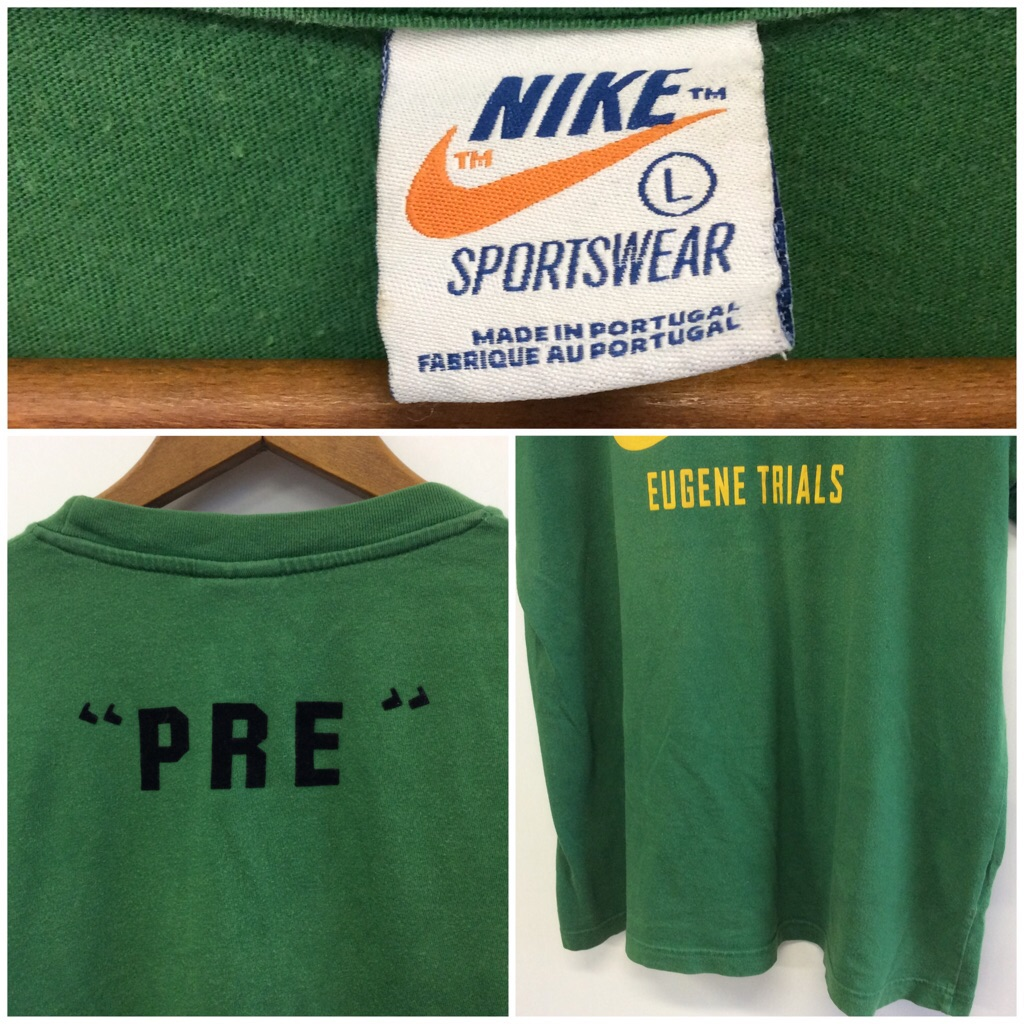 NIKE 送料無料 ロゴTシャツ L/緑 ナイキ スポーツ ブラジルカラー 半袖 アメカジ 古着卸 アメリカ輸入