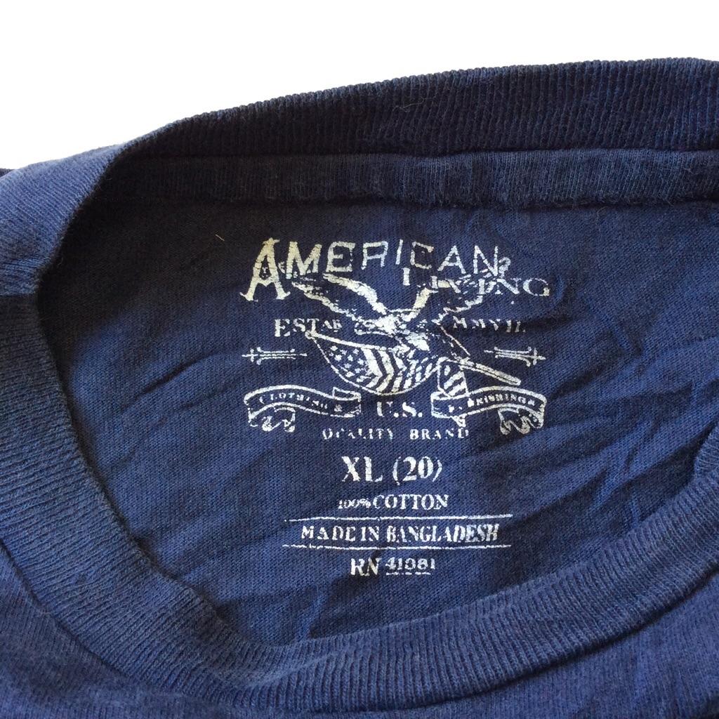 AMERICAN LIVING アメリカンリビング(ラルフローレン) 半袖ポケットTシャツ 送料無料 S-M/紺・ネイビー ブランド アメカジ Ralph Lauren JCペニー JC PENNEY アメリカ直輸入 USA ポケT ワンポイント