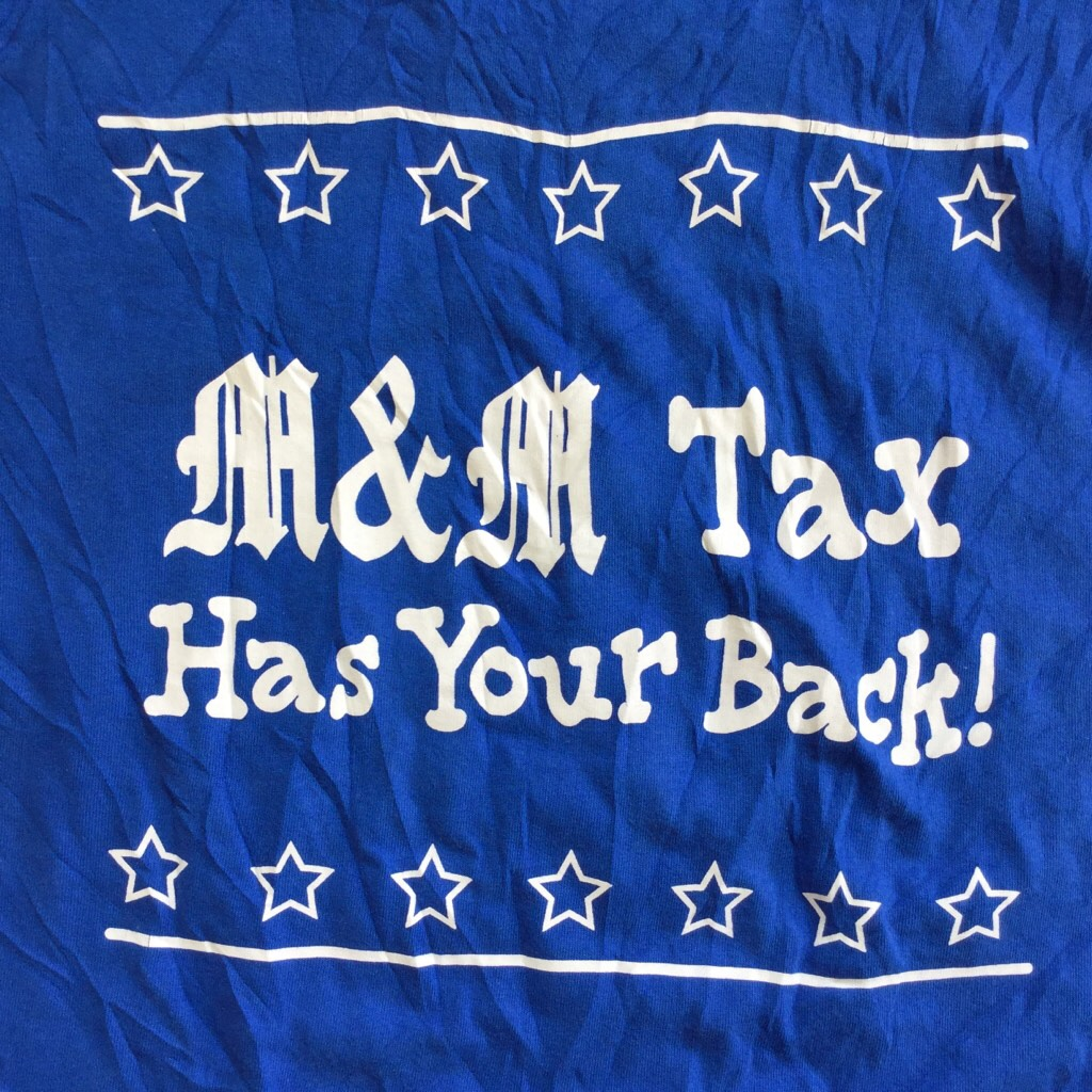 アメリカ古着 m&m's エムアンドエムズ 半袖Tシャツ L/青色 チョコレート キャラ デカプリ USA輸入 送料無料