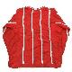 Liz sport ストライプセーター アメリカ直輸入 コットンニット送料無料 レディース L/赤x白 ボーダー カジュアル マリン 碇 アンカー ロープ ポップ アメカジ 古着卸 業販 メンズ ユニセックス