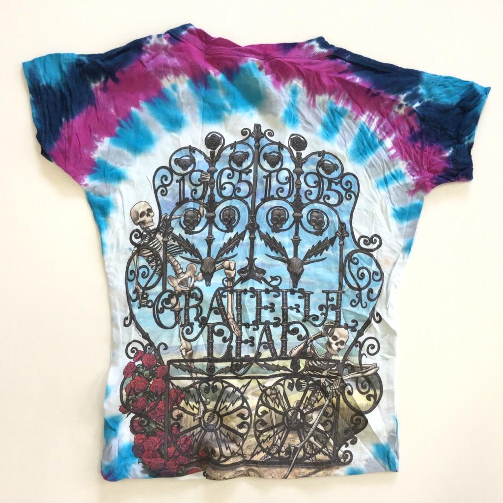 GRATEFUL DEAD グレイトフルデッド 半袖Tシャツ バンドT ロックT リメイク レディース M程度/タイダイ 送料無料 デッドベア スカル デッドマーク サイケ 古着卸 業販