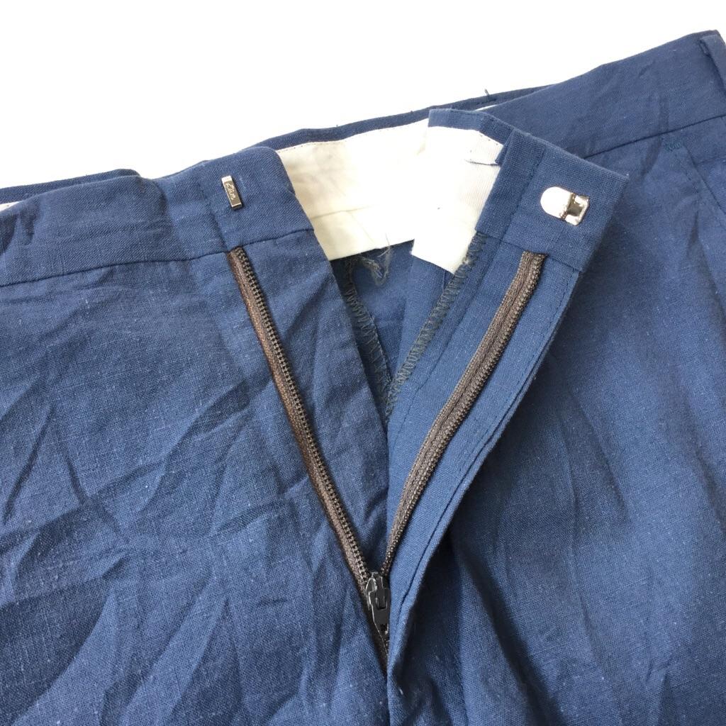 MANHATTAN アメリカ直輸入 スラックス スーツパンツ 送料無料 メンズ W92/ブルー系 ストレート ワークパンツ アメリカ製 USA アメカジ 古着卸 業販