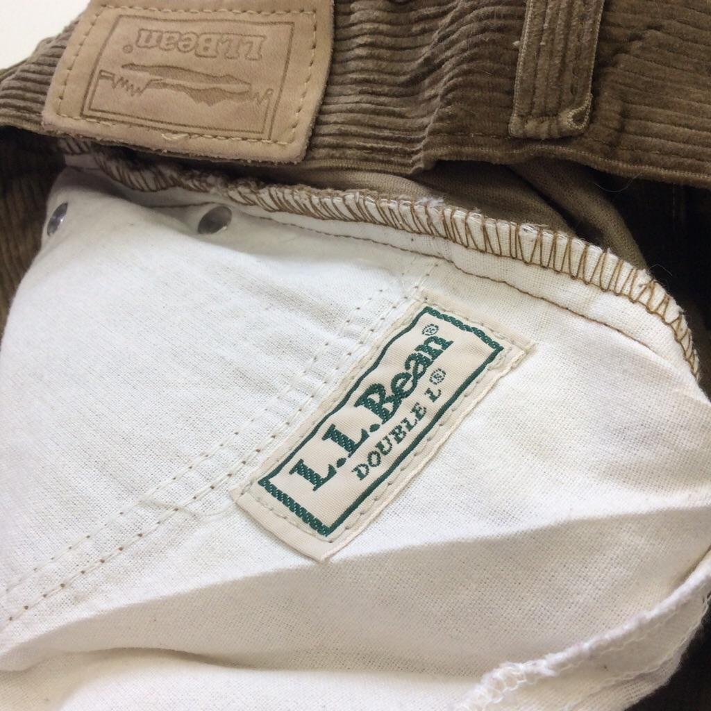 L.L.BEAN L.L.ビーン コーデュロイパンツ 太畝 レディース 送料無料 W26・茶・ブラウン アメリカ輸入 MADE IN USA アメカジ ブランド アウトドア 5ポケット 古着卸 業販 コーズ