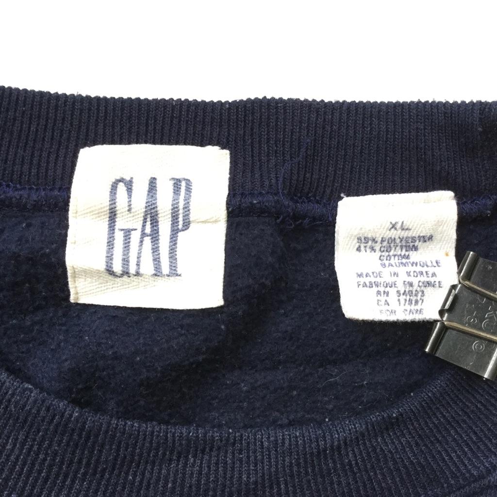 OLD GAP ギャップ アメリカ直輸入 無地スウェット トレーナー 送料無料 メンズ XL/紺・ネイビー USA トラッド アメカジ ブランド ソリッド プレーン 古着卸 業販 大きい ビッグ オーバー
