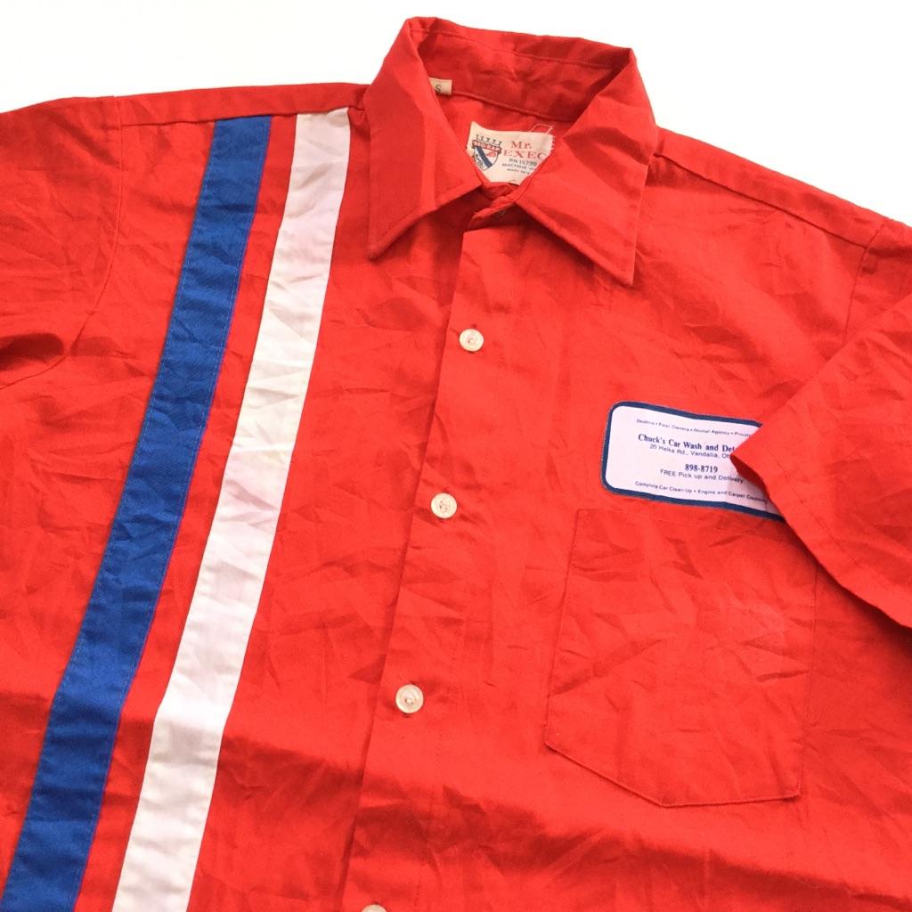 RED KAP レッドキャップ Mr. EXC ビンテージ アメリカ直輸入 半袖ワークシャツ 送料無料 メンズ S/赤・レッド MADE IN USA アメカジ ブランド 古シャツ オールド 作業着 古着卸 業販 ヴィンテージ