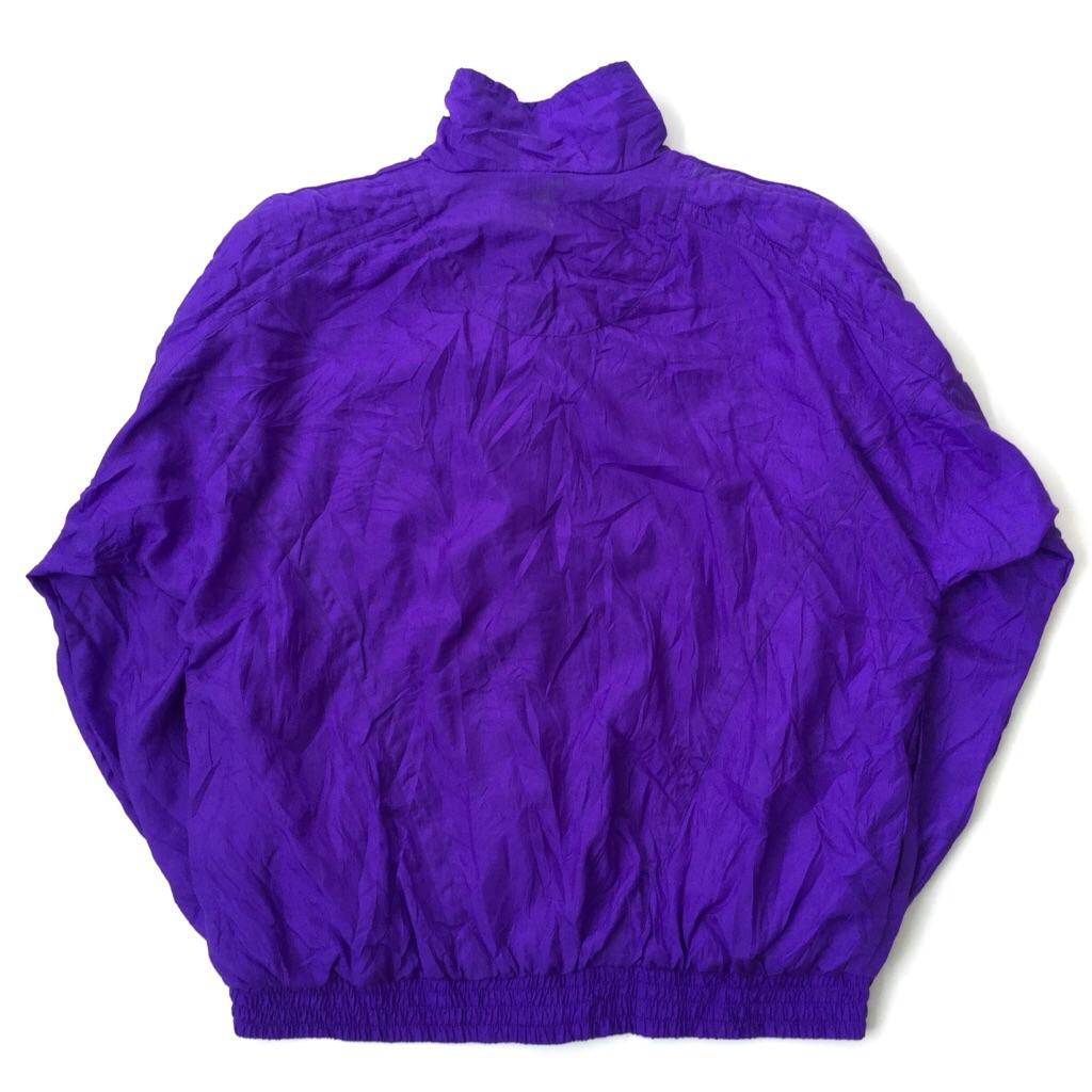 BOCOO ナイロンジャケット ウィンドブレーカー 送料無料 レディース M/青紫系 アメリカ輸入 USA アメカジ カジュアル ジップアップジャンパー ドルマンスリーブ 古着卸 業販