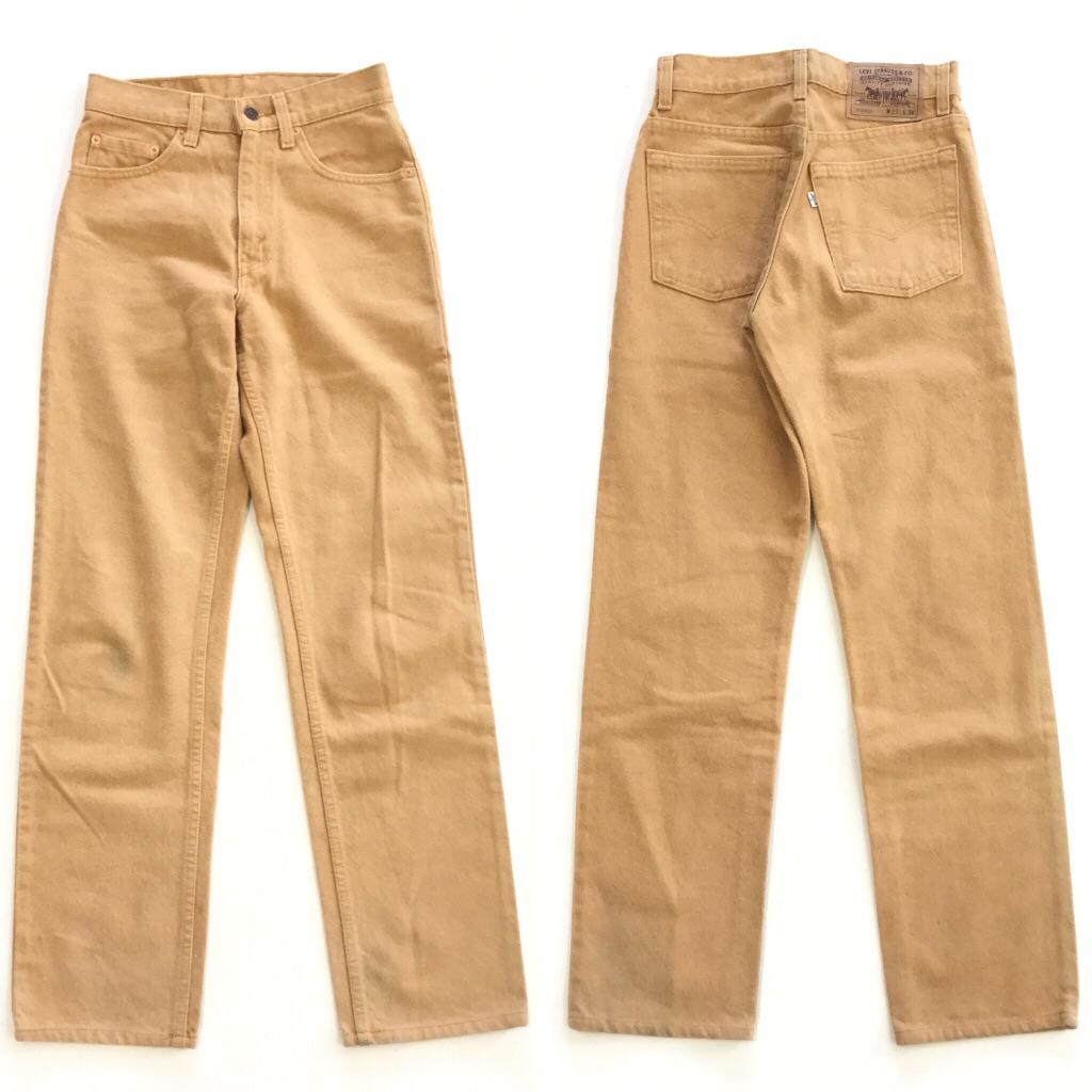 Levi's リーバイス 510-5224 カラージーンズ 送料無料 W27/黄土色 カラーデニム パンツ ジーパン ブランド MADE IN USA アメリカ直輸入 古着卸 業販