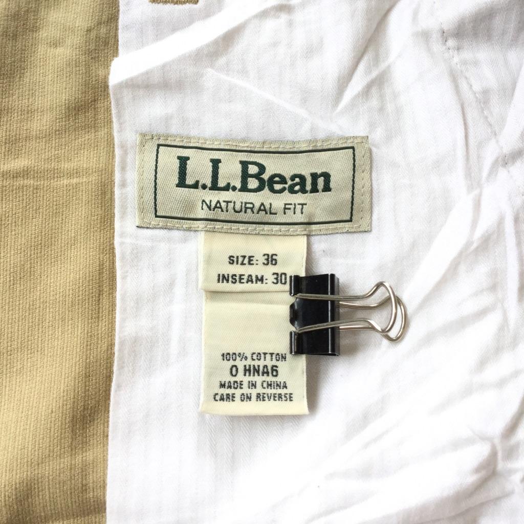 L.L.Bean エルエルビーン アメリカ古着 コーデュロイパンツ メンズ W36/ベージュ NATURAL FIT 太うね コーズ ベロア コールテン アメカジ ブランド アウトドア トラッド USA 送料無料 古着卸 業販 XL ビッグ オーバー 大きい