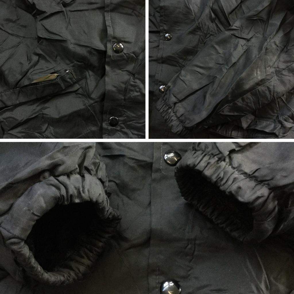 Pla-Jac by dunbrooke アメリカ直輸入 ヴィンテージ ナイロンコーチジャケット ウインドブレーカー 送料無料 メンズ 44-L-46/黒・ブラック オールド 内ボア USA アメカジ オールドアメリカ ワーク スポーツ ライダー 企業 古着卸 業販