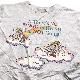 BINGO ANGEL プリントスウェット アメリカ直輸入 Blair トレーナー  送料無料 S-M/霜降りグレー ビンゴ 天使 天国 虹 USA アメカジ スエット 古着卸 業販 メンズ レディース